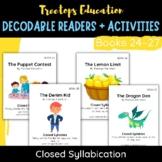 Decodable Pocket Readers #24-27: Closed Syllabication