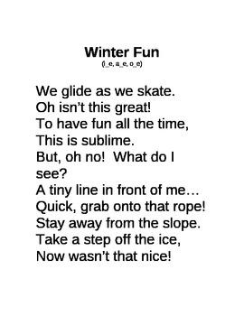 Decodable Poem Long i, a, o