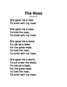 Decodable Poem Long o, a