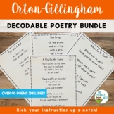 Phonics Poems Decodable Poetry for Orton Gillingham Activities
