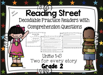 Decodable Practice Phonics Readers with Comprehension  Reading Street - Grade 2