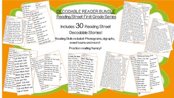 Decodable Reader BUNDLE - 30 Stories in All! Practice Phonics Skills!