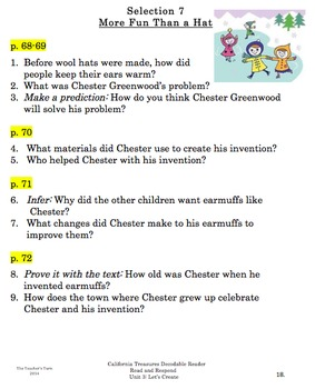 Decodable Reader Bundle for Second Grade Treasures Unit 3: Let's Create