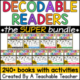 Decodable Readers BUNDLE of Printable Decodable Books with