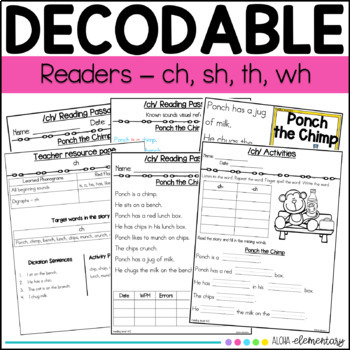 Decodable Readers Digraphs - ch, sh, th, wh - Orton Gillingham based