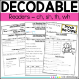 Decodable Readers Digraphs - ch, sh, th, wh - Orton Gillin