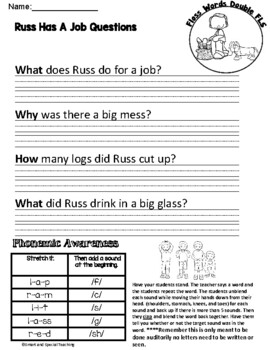 Decodable Stories with cloze passages (Floss Rule) Free Poster included