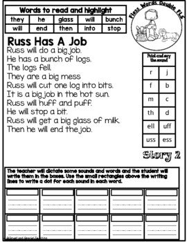 Floss Rule Decodable Stories with Comprehension Questions Level 1 Unit 4