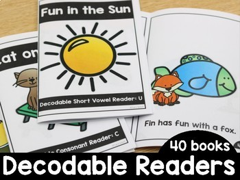 graphic about Free Printable Decodable Books for Kindergarten referred to as Decodable Guests (Pre-K and Kindergarten) through Tara West TpT