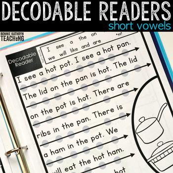 Decodable Readers: Short Vowel Words