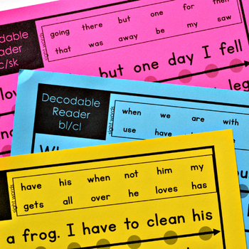 Decodable Readers: Words with Blends