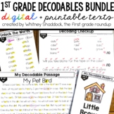 Decodable Readers and Passages for First Grade BUNDLE