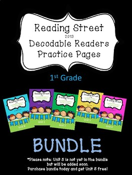 Decodable Readers for Reading Street 2013 1st grade Practice Pages BUNDLE