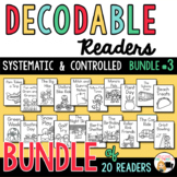 Decodable Readers Printable Books to Support the Science of Reading- Bundle 3