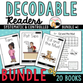 Decodable Readers Printable Books to Support the Science of Reading- Bundle 1