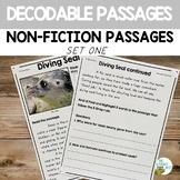 Decodable Reading Passages Non-Fiction Comprehension Set 1
