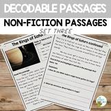 Decodable Reading Passages Non-Fiction Comprehension Set 3