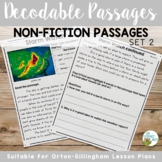 Decodable Reading Passages Non-Fiction Controlled Text and Comprehension Set 3