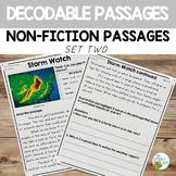 Decodable Reading Passages Non-Fiction Comprehension Set 2