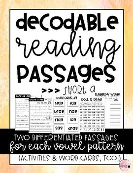 Decodable Reading Passages: Short A