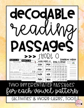 Decodable Reading Passages: Short O