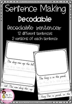 Decodable Sentence Building Pages