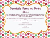 Decodable Sentence Strips Set 1