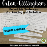 Decodable Sentences FREEBIE for Syllable Division
