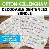 Decodable Sentences PDF and Google Slides Orton-Gillingham