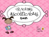 Decodable Sentences!! Spanish