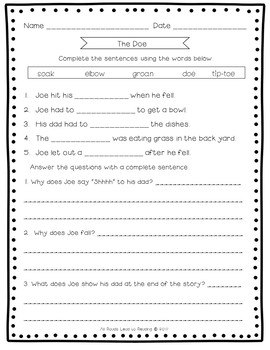 Decodable Stories,  Comprehension Sheets & Activities: Level  Two Bundle