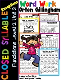 Closed Syllable Exceptions old ost ild ind oll Level 2 Unit 3 (RTI)
