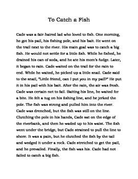 """Decodable Story for older students (""""ai"""" spelling of /ā/): To Catch a Fish"""