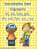 Decodable Text- Digraphs