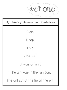 Decodable Word Lists & Fluency Sentences