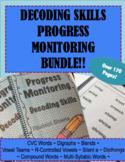 IEP and RTI Reading Progress Monitoring for Decoding Skills BUNDLE!