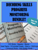 IEP and RTI Reading Progress Monitoring for Decoding Skills BUNDLE!