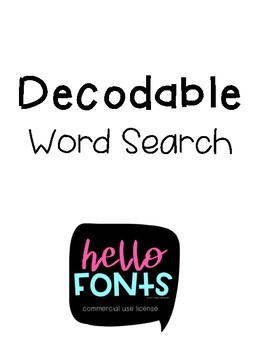 Decodable Word Searches