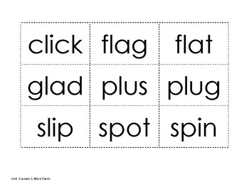 Decodable Words Cards: Blends and Glued Sounds