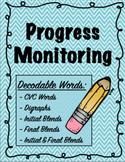 IEP and RTI Reading Progress Monitoring - CVC words, Digra