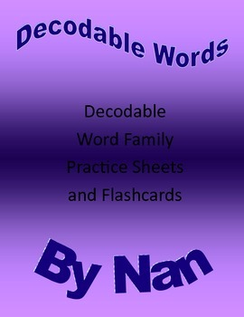 Decodable Words Worksheets & Flashcards