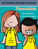 Decodable Worksheets for the Year- 1st Grade- Phonics First