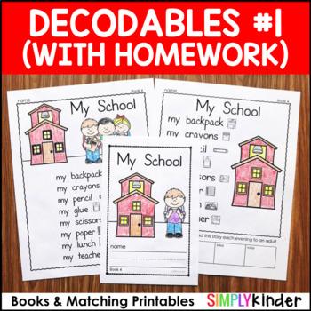 Decodable Readers Kindergarten Worksheets & Teaching ...