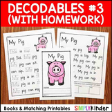 Decodables Set 3 (with matching homework)