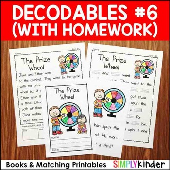 Decodables with Homework Set 6