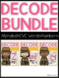 Decode It (Alphabet, CVC Words, Numbers) SET ONE