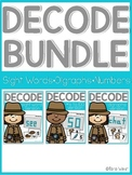 Decode It (Sight Words, Digraphs, Numbers within 100) SET