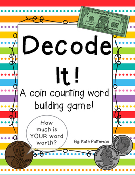 Decode It! Word Decoding and Coin Counting Game