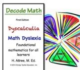 Decode Math Dyscalculia   Math Dyslexia  Visual Learners