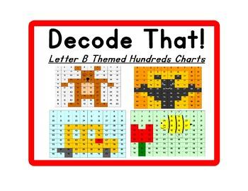 Decode That! Letter B Hundreds Chart Series